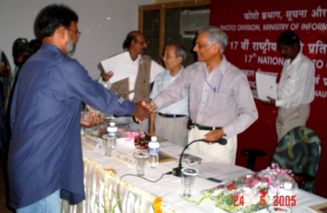 RECEIVING THE NATIONAL AWARD FOR PHOTOGRAPHY 2005