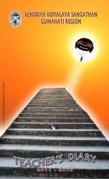 Cover design for teacher's diary seniors section for KVS Guwahati Region 2011