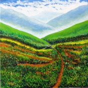 A Painting in Acrylic :Private collection at Dibrugarh Assam India