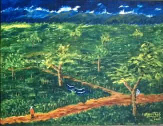 2015: Painting in Acrylic, K.V.AFS Mohanbari