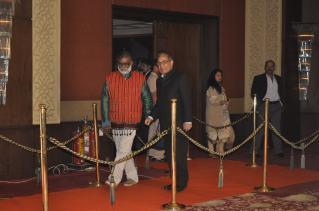 With Prof. Shahid Mahdi, Former Vice Chancellor, Jamia Millia Islamia, New Delhi — at Taj Palace Hotel New Delhi.